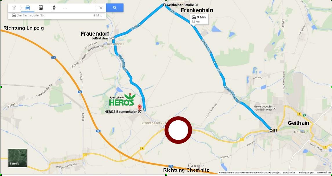 Alternativ-Route HEROS-Baumschulen, Sperrung der B7